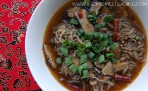 Spicy Shiitake & Kelp Noodle Soup