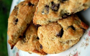 Bailey's Chocolate Chip Scones