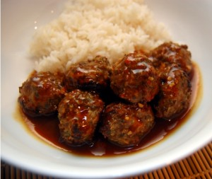 Hoisin Barbecued Meatballs