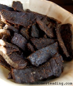 Cowgirl Beef (Oven Dried Peppered Beef Jerky)