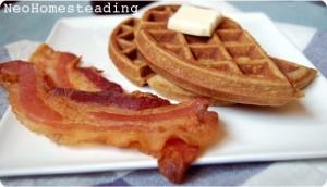 Grain Free Cinnamon-Flax Waffles