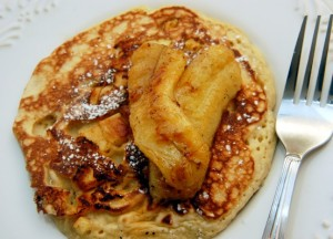 Sourdough Pancakes Revisit (apple kuchen pancakes)