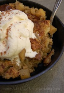 Caramel Apple Sourdough Bread Pudding