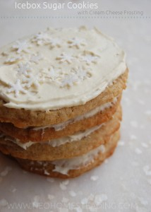 Icebox Sugar Cookies with Cream Cheese Frosting