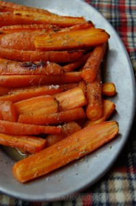 Butter Roasted Carrots with Honey and Thyme