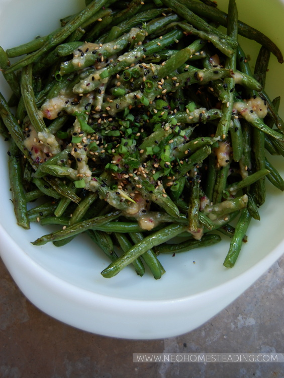 ... miso butter green beans photo justin lanier miso butter green beans