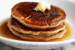 Whole-Wheat Blender Pancakes