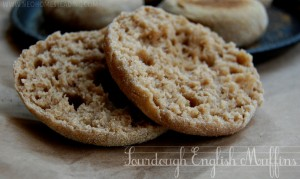 Whole-Wheat Sourdough English Muffins