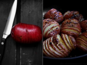Roasted Peel Apart Potatoes (Hasselback Potatoes)