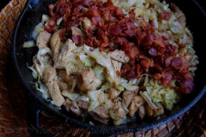 Chicken and Cabbage Skillet with Bacon, Juniper & Caraway