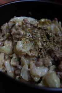 Skillet Supper- Cheesy Cabbage and Beef