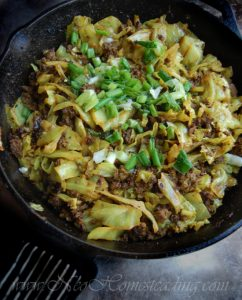Spicy Curried Cabbage and Beef Skillet
